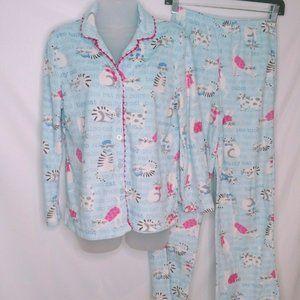 Karen Neuburger Women Pajama Set Size Small Cat